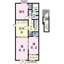 四ケ所ヒルズ[2階]の間取り