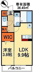 東武野田線 塚田駅 徒歩4分の賃貸マンション 3階1LDKの間取り