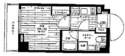 京王線 京王八王子駅 徒歩3分の賃貸マンション 1階1Kの間取り