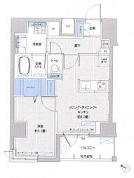 東京都中央区東日本橋1丁目の賃貸マンションの間取り