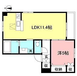 JR中央線 吉祥寺駅 バス14分 新川下車 徒歩2分の賃貸マンション 3階1LDKの間取り
