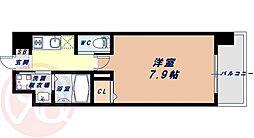 Osaka Metro千日前線 桜川駅 徒歩9分の賃貸マンション 4階1Kの間取り