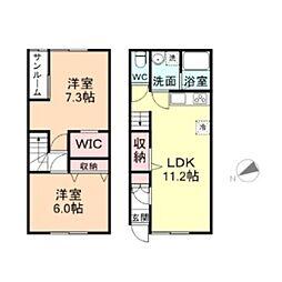 カサーレ犬島1[E号室]の間取り