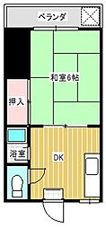九モハウス[202号室]の間取り