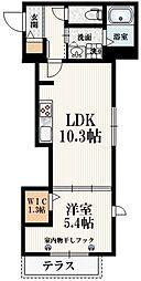 (仮称)中野6丁目メゾン 2階1LDKの間取り