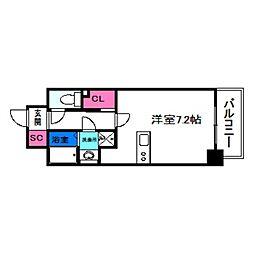 SOAR NAGAI EKIMAE 3階ワンルームの間取り