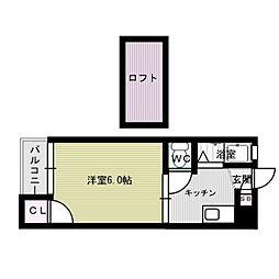 シティハイム春日原II[2階]の間取り