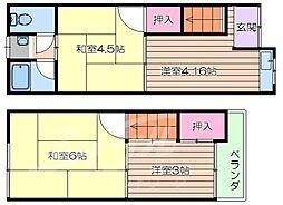 城東区野江3丁目貸家 1階3Kの間取り