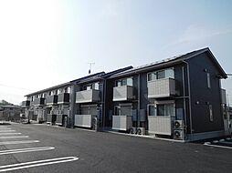 茨城県筑西市稲野辺の賃貸アパートの外観