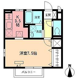 オーチャード506[1階]の間取り