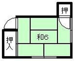 金澤荘[202号室]の間取り