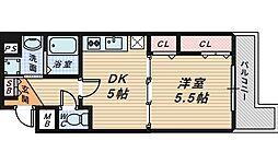 宿院西TKハイツ2号館[4階]の間取り