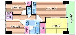 ライオンズマンション都島高倉町[2階]の間取り