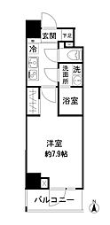 東京メトロ日比谷線 仲御徒町駅 徒歩4分の賃貸マンション 5階1Kの間取り