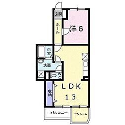 HANAハイツ[3階]の間取り