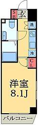 千葉県習志野市実籾4丁目の賃貸マンションの間取り