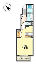 愛知県名古屋市名東区新宿2丁目の賃貸アパートの間取り