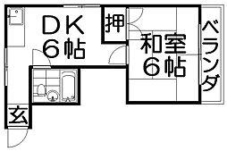 プレアール香里園駅前2[4階]の間取り