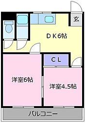 グランドソレイユ松原[1階]の間取り