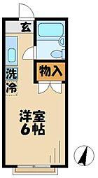 コーポ竹之内A[2階]の間取り
