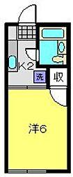 ファミーユ原[105号室]の間取り