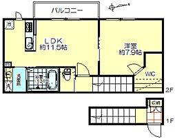 サワーハイム五番館[2階]の間取り