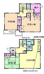 [一戸建] 大阪府池田市緑丘2丁目 の賃貸【/】の間取り
