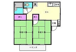 コンフォート犬山[B-2号室]の間取り