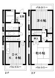 [テラスハウス] 東京都練馬区大泉町2丁目 の賃貸【/】の間取り