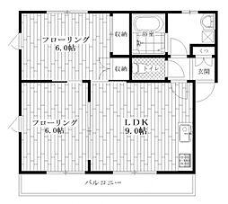 東京都杉並区阿佐谷北5丁目の賃貸マンションの間取り