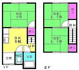 ファミーユヤノ2号棟[103号室]の間取り