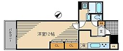 トルナーレ日本橋浜町2610 46階1LDKの間取り