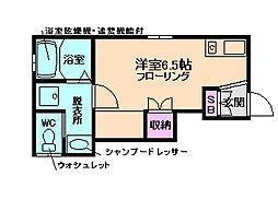 大阪府大阪市北区中津3丁目の賃貸アパートの間取り