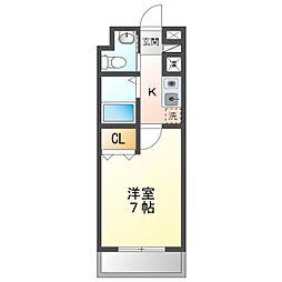 JR東海道本線 相見駅 バス12分 彦左公園口下車 徒歩2分の賃貸マンション 8階1Kの間取り