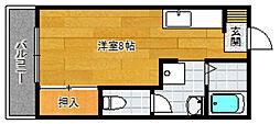 フレグランス石坂[201号室]の間取り