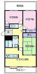 コート北野田カリヨンI番館[1階]の間取り