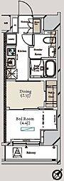 ミュプレ月島 7階1DKの間取り