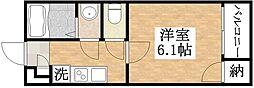 Osaka Metro谷町線 平野駅 徒歩8分の賃貸アパート 3階1Kの間取り