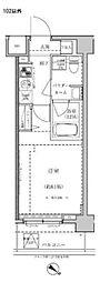 東武東上線 東武練馬駅 徒歩10分の賃貸マンション 2階1Kの間取り