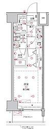 都営三田線 板橋本町駅 徒歩4分の賃貸マンション 11階1Kの間取り