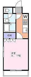 ホワイトガーデン[1階]の間取り