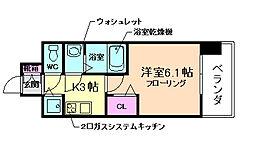 プレサンス梅田北ザ・ライブ[4階]の間取り