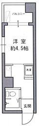 ストーク小石川 6階1Kの間取り