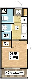 デ・クメール滑石II[1階]の間取り