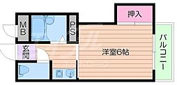 第1橋本ハイツ[3階]の間取り