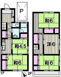 [一戸建] 東京都八王子市絹ケ丘3丁目 の賃貸【/】の間取り