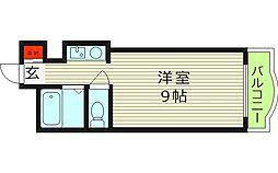 スカイ都島[3階]の間取り