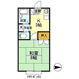 ワンズ18A棟[103号室]の間取り