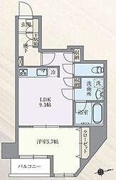 東京メトロ丸ノ内線 本郷三丁目駅 徒歩7分の賃貸マンション 11階1LDKの間取り