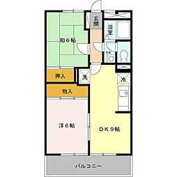 ファミール中野島[102号室]の間取り